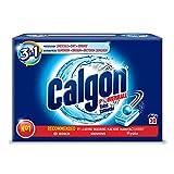Calgon Pastillas 2 en 1, descalcificador de agua contra la cal y la suciedad en la lavadora, 30 unidades