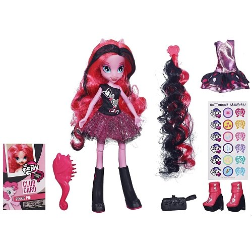 My Little Pony Equestria Girls Pinkie Pies boutique Rose/Noir Poupée de 23 cm articulées +divers accessoires