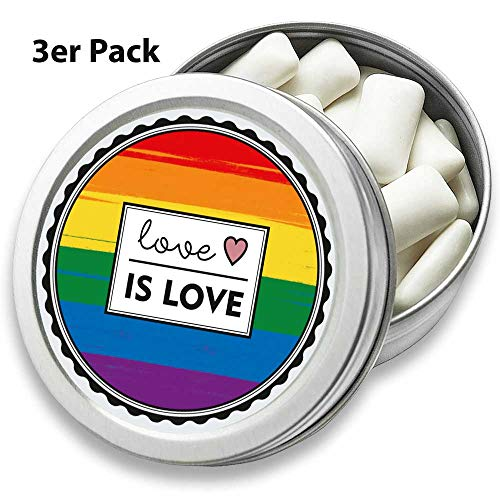 FANS & Friends 3-pack doos met LGBTQ vlag | maxi-theelicht in retro doos | Gay Pride Flag | Love is Love Rainbow LqBTq.
