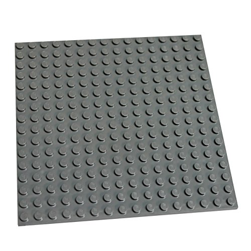 LEGO Parts and Pieces: Dark Gray (Dark Stone Grey) 16x16 Studs (4.8 inches by 4.8 inches) Plate x1