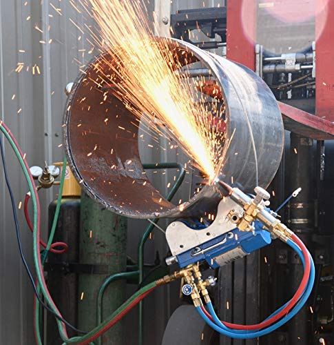 BLUEROCK CG211C PIPE CUTTER MAGNETIC GAS MACHINE TORCH BURNER BEVELER CUTTING