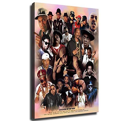 heshunxing Hip hop Old School Rap Legends (Rapper Collage) Music Poster Wall Art Family Bedroom...