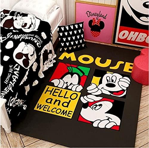 LGXINGLIyidian Alfombra De Dibujos Animados De Disney Mickey Y Minnie Mouse Tapete para Puerta Niños Niños Niñas Juego Alfombra Dormitorio Cocina Alfombra Alfombra De Baño Interior V-824M 160X230Cm