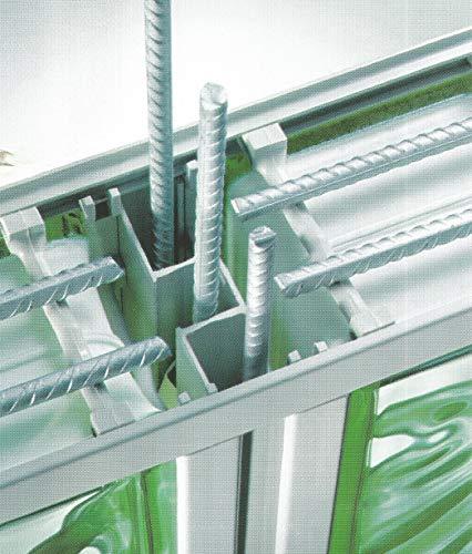 Varilla corrugada de acero Inox AISI 304 en barras de 100 cm y 6 mm de diámetro para refuerzo de la estructura de bloque de vidrio o del hormigon - 10 barras por paquete.