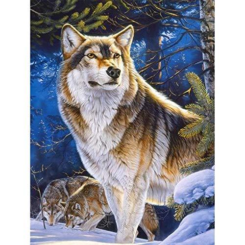 Diamond Painting Kits for Adults Diamond Art 5D Paint with Diamonds DIY Painting Kit Abstract Colorful Deer & Giraffe & Tiger & Wolf & Bear & Beast 16X20 INCH (40X50CM)