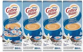 NESTLE Liquid Coffee Creamer, French Vanilla Flavor 0.375 Oz. , 200 Creamers/carton