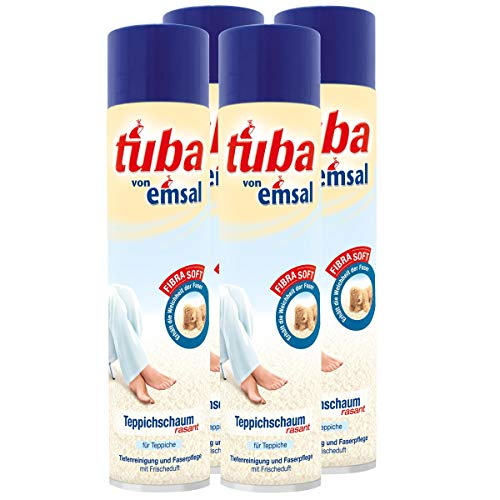 4x emsal tuba Teppichschaum rasant 600 ml - Tiefenreinigung und Faserpflege