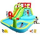 WELLFUNTIME Inflatable Water Slide Park