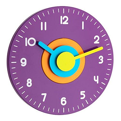 TFA Dostmann Polo Wanduhr, für das Kinderzimmer, leise durch Sweep-Uhrwerk, bunt, 60.3015.11