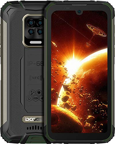 DOOGEE S59 Pro Móvil, [2021] 10050mAh 4GB RAM+128GB ROM, lP68 IP69K Movil Resistente, Potente Altavoz 2 W, Cámara Cuádruple 16MP+Cámara Frontal 16MP Smartphone Android 10 4G, 5.71 , NFC GPS, Verde