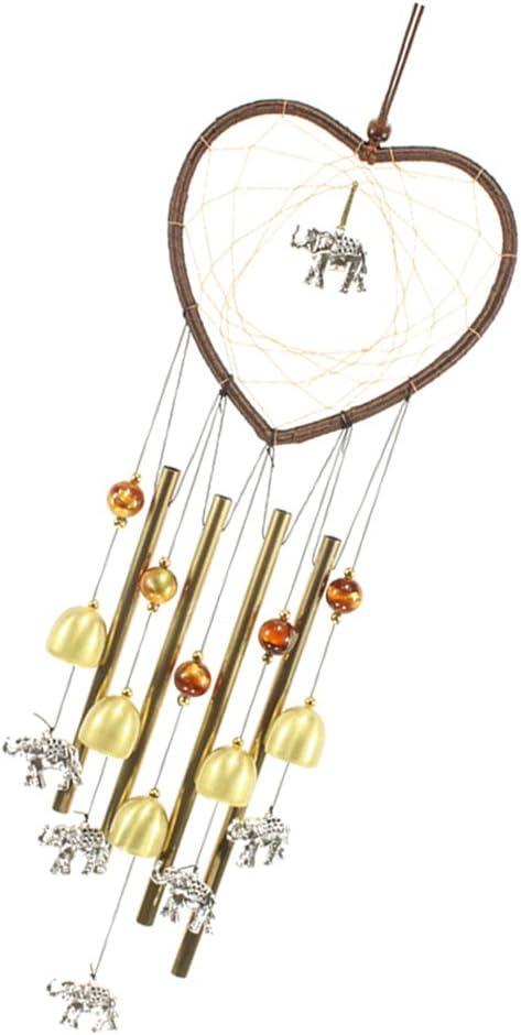 gesund und gl/ücklich segnen Familie sicher Elefant non-brand Chinesische Windspiel Klangspiel Feng-Shui Chime