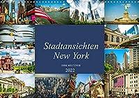 Stadtansichten New York (Wandkalender 2022 DIN A3 quer): Momentaufnahmen aus der Stadt der Staedte, New York (Monatskalender, 14 Seiten )