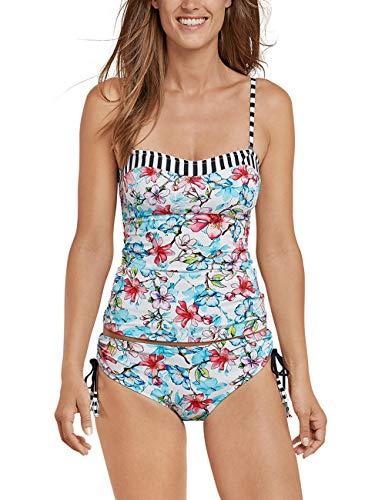 Schiesser Damen Mix & Match Tankini-Top Schwimmshirt, Mehrfarbig (Multicolor 1 904), 38 (Herstellergröße: 038B)