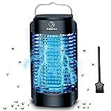BABEJIA Lámpara Antimosquitos Electrico, Bug Zapper, 18W UV LED Lámpara Mata Insectos Impermeable con Área de Acción de 100 m²