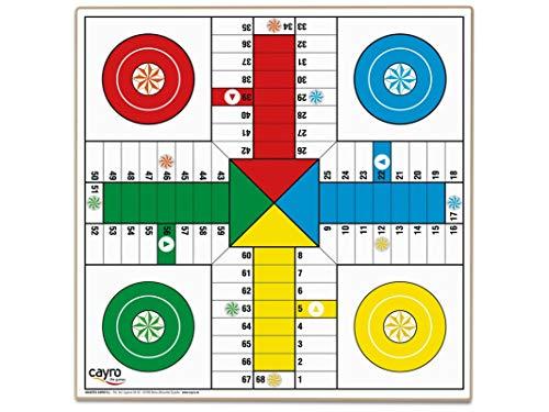 Cayro - Tablero Parchís 4 y 6 jugadores - Juego de tradicional - juego de mesa - Desarrollo de habilidades cognitivas - Juego de mesa (T-134)