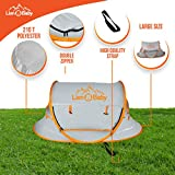 LionBaby Portable Pop up Beach Babies Tent, UPF 50+, Lightweight Outdoor -Indoor, Large Travel Baby Crib Bed, Sun Shelter Infant Baby, Mosquito Net Sunshade