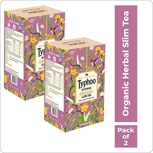 Typhoo Organic Herbal Infusion Slim Tea 20 Tea Bag Pack Of 2