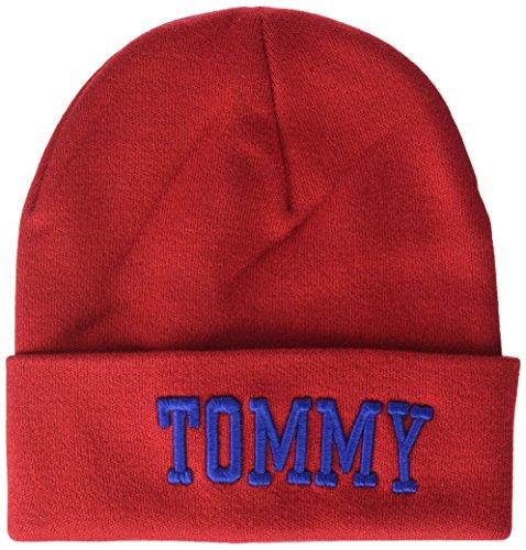 Tommy Jeans dames TJW VARSITY BEANIE gebreide muts, rood (tommy rood 614), één maat (fabrikantmaat: OS)