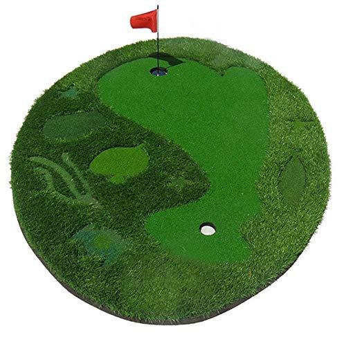 Entrenamiento de Adolescentes Estera de Golf para Interiores/Exteriores Golf Ambiental Verdes Artificiales Desmontable Juvenil Golf de Interior Ejercicio con 1 Bandera 6 Bolas, Fácil de Usar y Dura