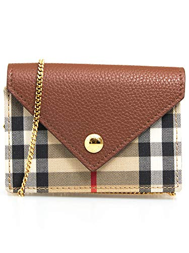 『Vintage Check and Leather Card Case with Strap(80251631)』