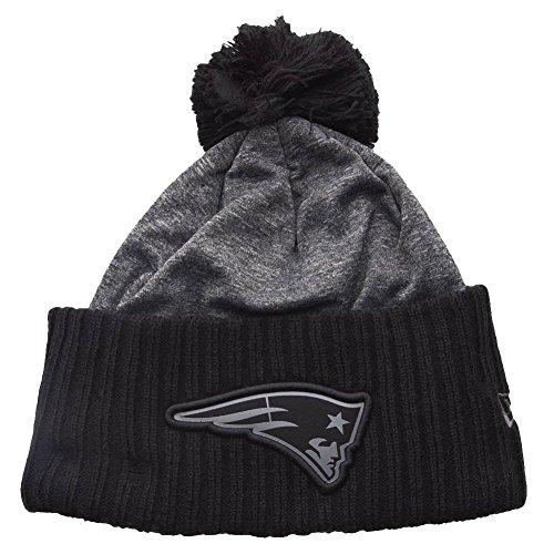 New era New England Patriots Beanie NFL Grey Collection Pom Knit Grey - One-Size