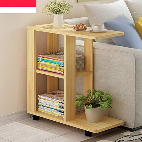 Muebles esquina-moderna sala de estar movible esquina mesa de centro de madera gabinetes laterales de noche mesa de café, tamaño: 60x30x67cm