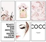 Artpin® Juego de 6 pósteres para el salón, imágenes decorativas para el dormitorio, con estilo, A4, sin marco