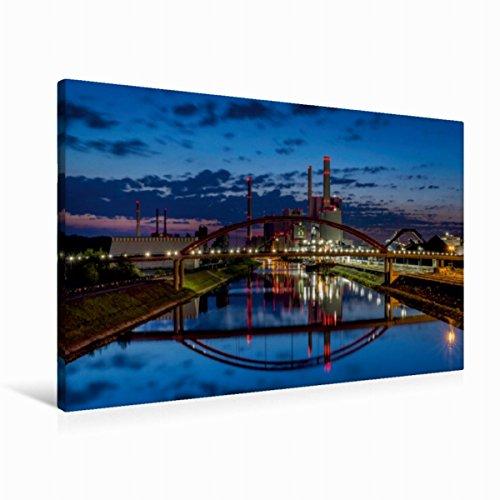 CALVENDO Lienzo de 90 cm x 60 cm Horizontal, Imagen de la Gran Central de Mannheim sobre Lienzo, Lienzo: para Alrededor de 120000 hogares Orte Lugares