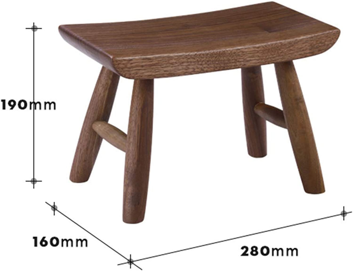JZX Simple shoes Bench, Solid Wood Low Stool, Home Sofa Bench, Multi-Function Stool