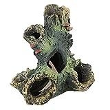 OMEM Reptilien-Zuchtkasten für Lebensraum, Versteck, Harz, Baumstamm, Terrarium, Ornament, Luftfeuchtigkeit, Höhlen, Aquarium-Dekoration