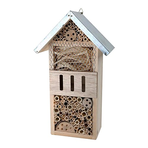Legler 1268 Städtetrip aus Holz mit praktischer Aufhängung, Nisthilfe und Überwinterung für Insekten, Garten-Deko Insektenhotel, natur, 18.5 x 10.5 x 32 cm