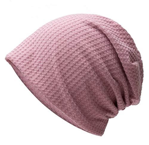 BDLEZI Fashion hat women autumn/winter knitted hat pullover capless casual Baotou cap (Color : Lotus root starch)