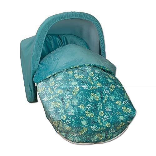 Sac porte-bébé universel intersaisonnier + capote cadeau !! Dernières unités. (Garden Vert)