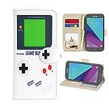 UrSpeedtekLive Samsung Galaxy J3 Emerge Case, J3 2017 Case, J3 Prime Case, Amp Prime 2 Case, J3 Emerge Wallet Case, Premium PU Leather Flip Case Cover w/Card Slots & Kickstand (Gameboy)