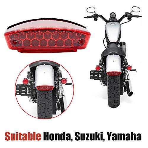 HugeAuto Luz Trasera para Motocicleta y Luz de Matrícula con 21 LED, Luz Trasera para Bicicletas, Motocicletas, Quads y Vehículos Todo Terreno