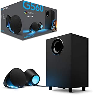 Logitech Lightsync PC Gaming Speakers G560, Black