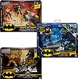 DC Comics Batman Bat-Fahzeug-Spielset mit 10cm-Actionfiguren von Batman und Bösewicht, unterschiedliche Varianten