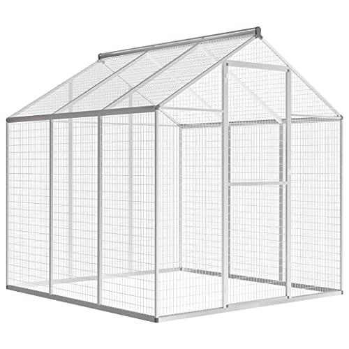 HUANGDANSP Pajarera de Exterior de Aluminio 183x178x194 cm Productos para Mascotas Productos para Mascotas Productos para Animales pequeños Jaulas y habitáculos para Animales pequeños