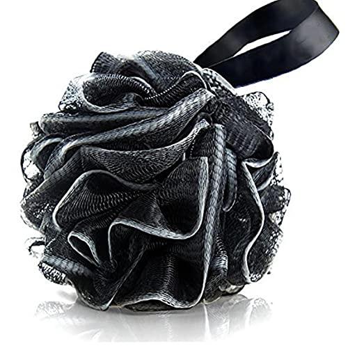 Runfon Ducha depurador 1pc de carbón de bambú Baño Loofahs Esponja de Ducha Puf Cuerpo del depurador de Acoplamiento de la Bola Puf Esponja de baño de Cuerpo Completo de Limpieza Profunda