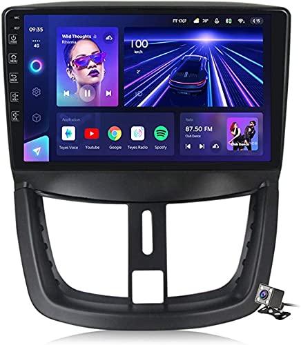 YIJIAREN Navigazione GPS Autoradio per Peu-geot 207 2006-2015, Schermo tattile IPS Android 10.0 Autoradio Stereo Supporta Il Controllo del Volante BT Mirror-Link 4G WiFi