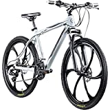 Galano Blast 26 Zoll MTB Hardtail Mountainbike Fahrrad 26' Rad 21 Gang Bike (grau, 46 cm)