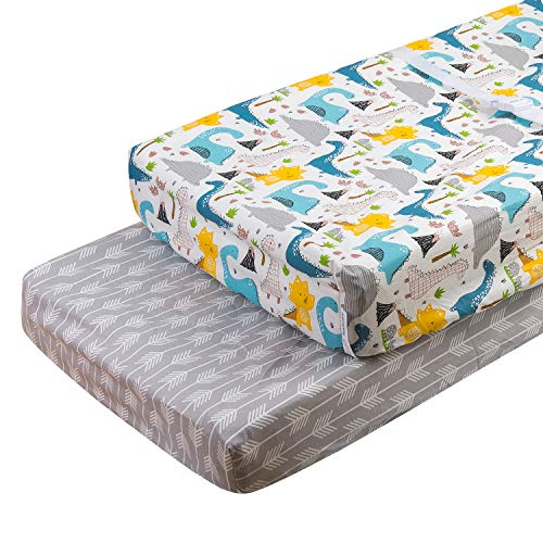 Save %38 Now! ALVABABY Changing Pad Covers 2pack 100% Organic Cotton Soft and Light Baby Cradle Matt...