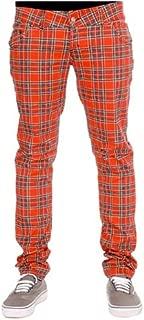 Tartan - Pantalón elástico para Hombre, Color Rojo