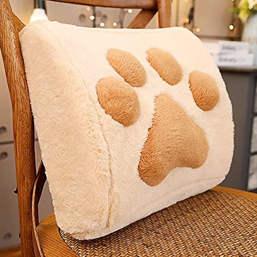 GEQIAN Almohada de espuma viscoelástica con diseño de garra de gato, espuma viscoelástica para asiento de coche, silla de oficina, cojín lumbar para decoración del hogar