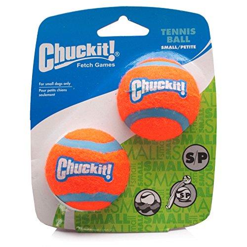 Chuckit Lot de 2 balles de tennis pour petit chien 4.8 cm