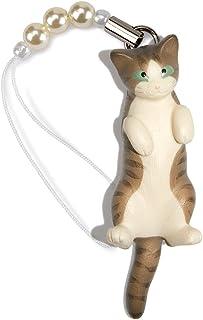 ペットラバーズ 猫どん LadyCat vol.7 キジトラ白 ビーズ ストラップ N-2703