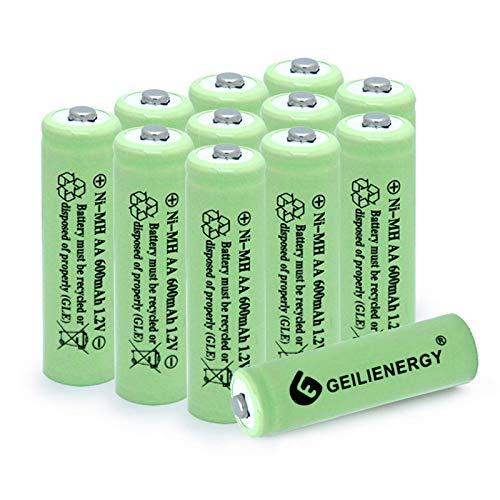 BAOBIAN AA 600mAh 1.2V NiMH Rechargeable Batteries for Solar Light,Solar Lamp,Garden Lights Green(12 PCS)