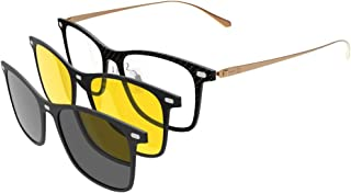 7bba048e9a GLASSESKING Eyeglasses Frame Optical Frame Prescription Eyeglasses Frame  With Magnetic Clip-on Sunglasses Carbon Fiber