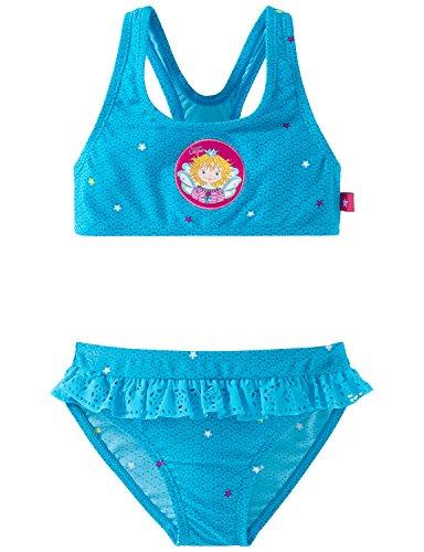 Schiesser Mädchen Aqua Prinzessin Lillifee Bustier Bikini, Blau (Petrol 811), 98 (Herstellergröße: 098)