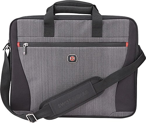 "Swissgear - Structure 17"" Laptop Case - Gray Heather/Black"